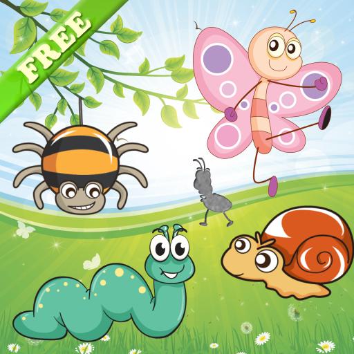 Puzzles de insectos para niños pequeños y niñas! Juegos de