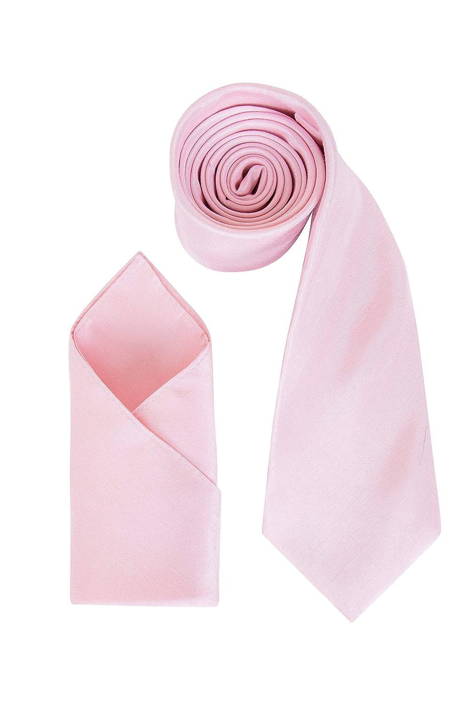 Gent/'s Cravat Set Premium Dupion Texture Finish Cravat Tie and Pocket Square Handkerchief