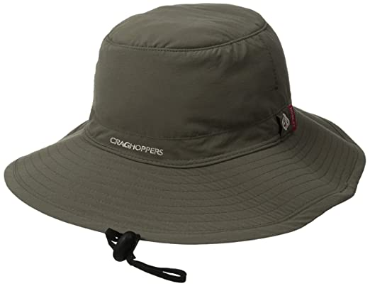 0181b9db Craghoppers Men's Nosilife Outback Hat, Dark Khaki, Small/Medium