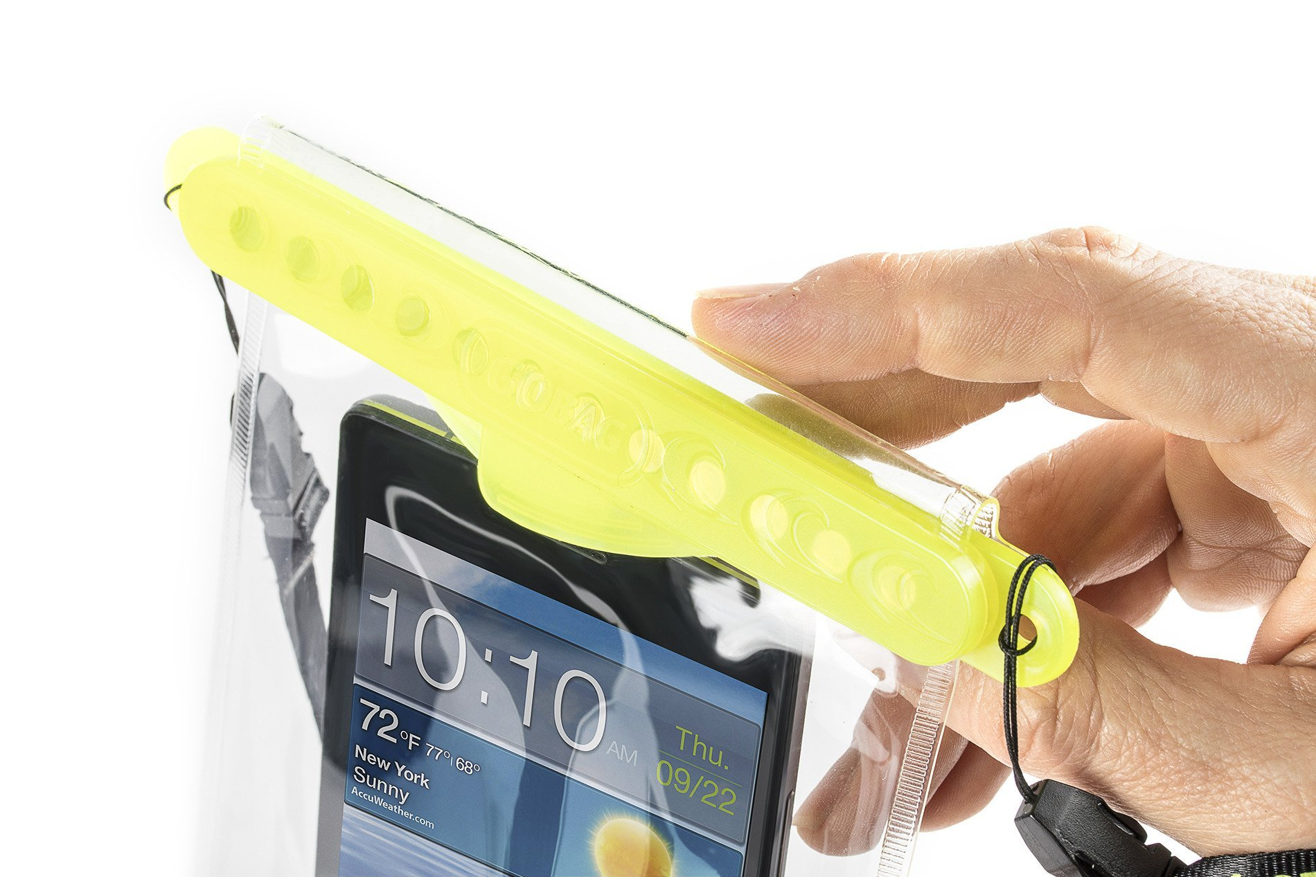 Go Bag Mako Dry Bag #1 Secure Air Tight Self-Sealing Magnetic Waterproof Case to 100 ft. Hermetic Seal Cell Phone Touchscreen Sensitive 7.5'' x 5.75'' Fits iPhone 6,7 8 + Plus (Yellow) by Go Bag (Image #5)
