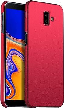 SHIEID Funda Samsung Galaxy J6 Plus/J6 Prime, Cover Case para Samsung Galaxy J6 Plus/J6 Prime-Arena roja: Amazon.es: Electrónica