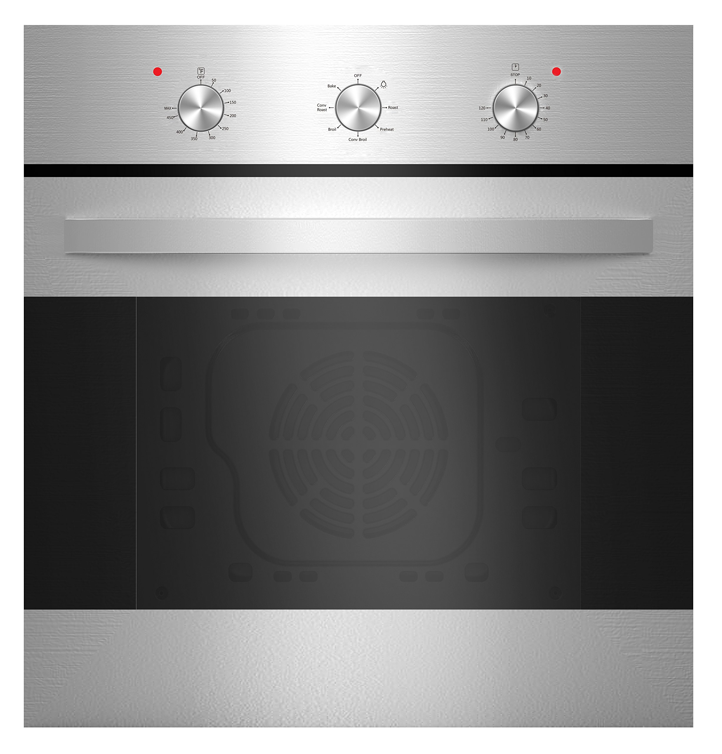 Empava 24'' Stainless Steel 6 Cooking Function Electric Built-in Single Wall Oven  EMPV-24WOB14 by Empava