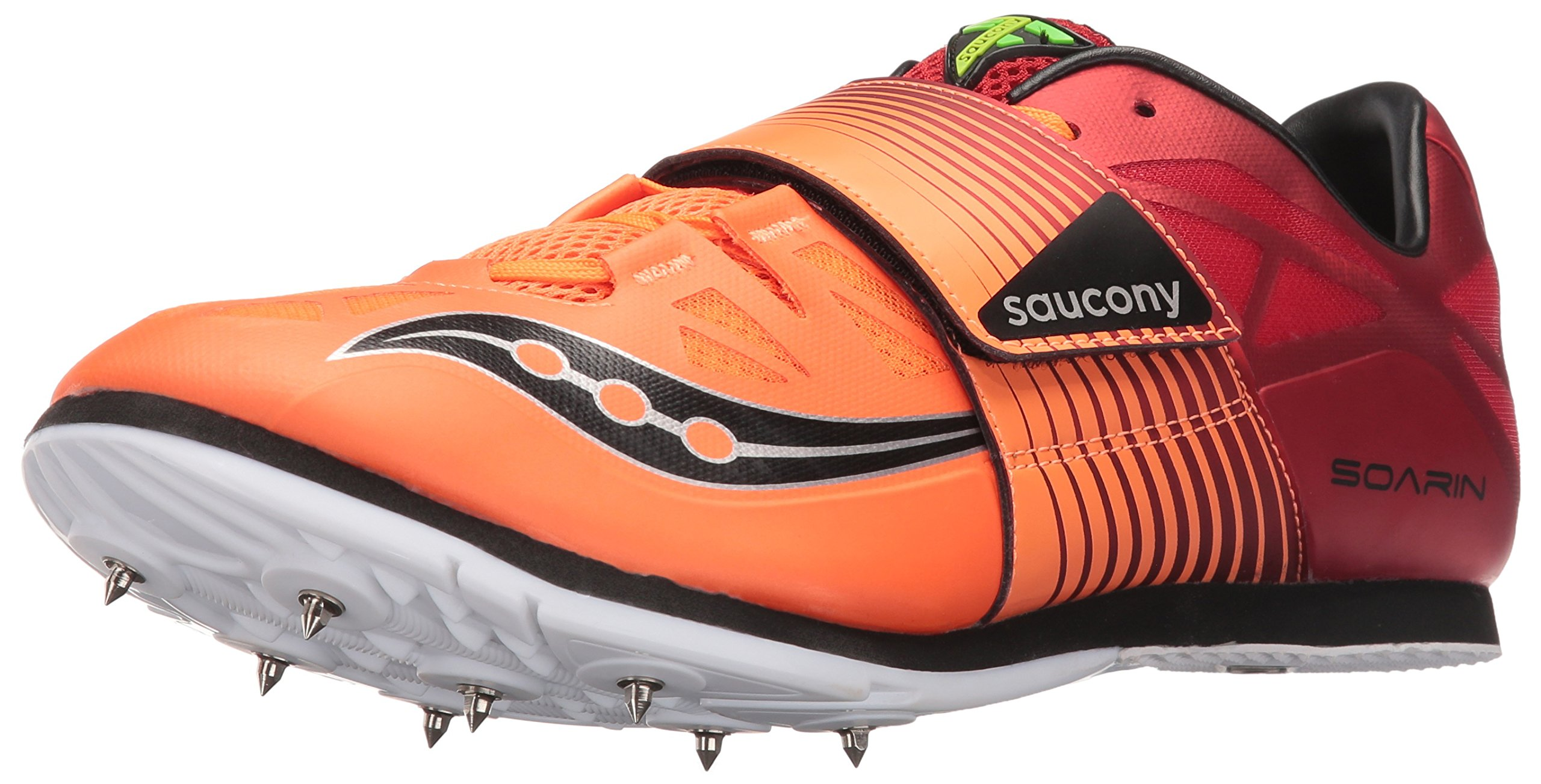 Saucony Men's Soarin j2 Track Shoe, Red/Vizi Orange, 10.5 M US
