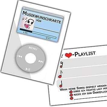 Musikwunschkarten Musikwunsch Musik Wunsch Karten Vintage Hochzeit