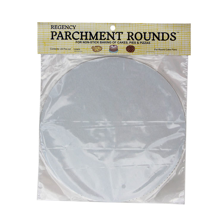Regency Wraps RW1110 Round Parchment Paper, 10-Inch, White, Set of 24