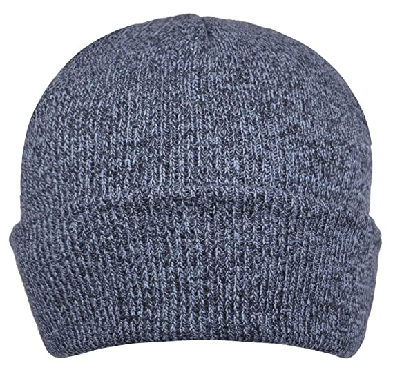 42d8017ab05 CEAJOO Men s Winter Hats Rib Knit Beanie Warm Fold Cuffed Dark Gray ...
