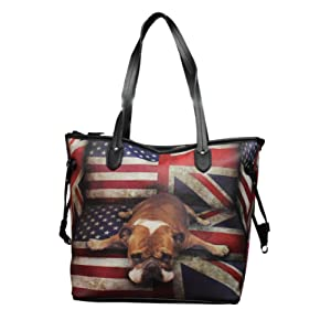 Sac Cabas sac à main à main fourre tout london Bouledogue usa