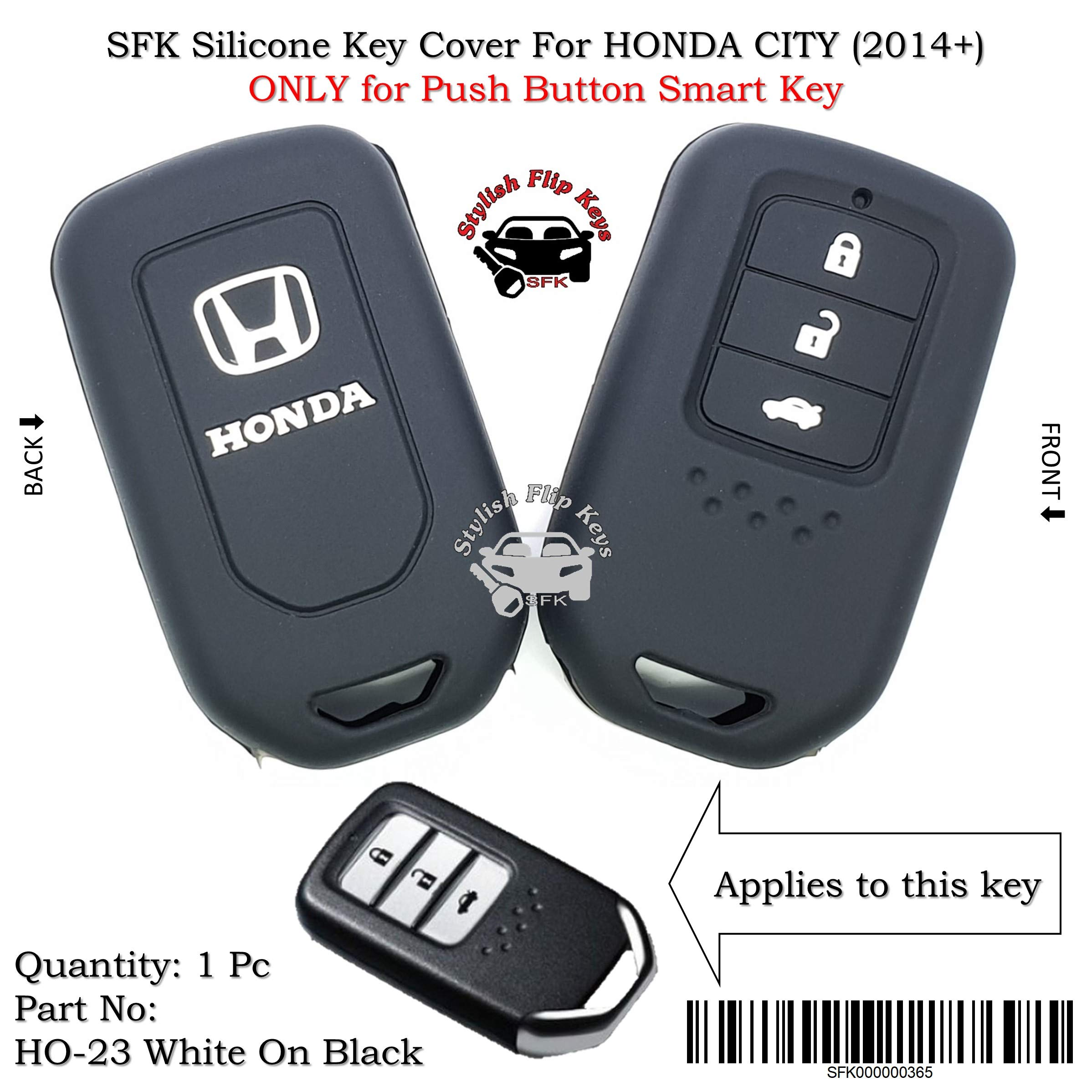 SFK Silicone Smart Key Cover Honda City (2014+) (Only for Push Button Start Models) product image