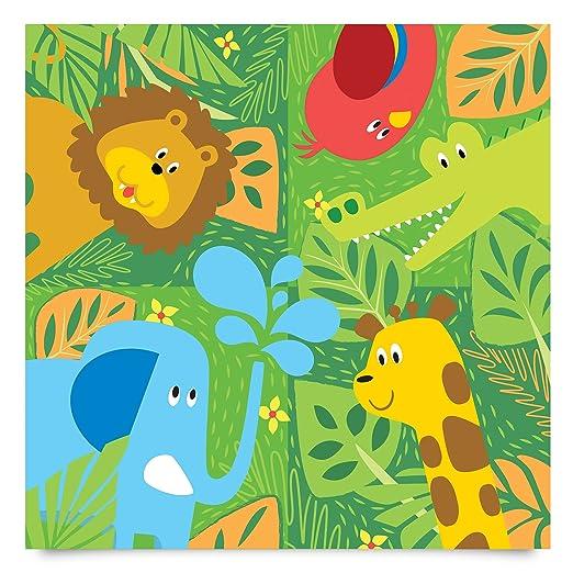 Klebefolie Kinderzimmer   Klebefolie Kinderzimmer Susse Zootiere Set Elefant Lowe Giraffe