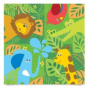 Klebefolie Kinderzimmer Susse Zootiere Set Elefant Lowe Giraffe