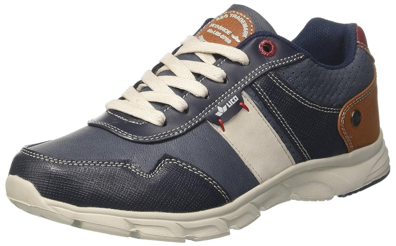 Geka Newport, Zapatillas para Hombre, Azul (Blau/Beige/Rot Blau/Beige/Rot), 40 EU