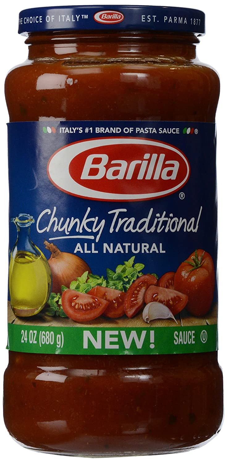 Amazon.com : Barilla Chunky Traditional Sauce, 24 oz : Grocery & Gourmet Food