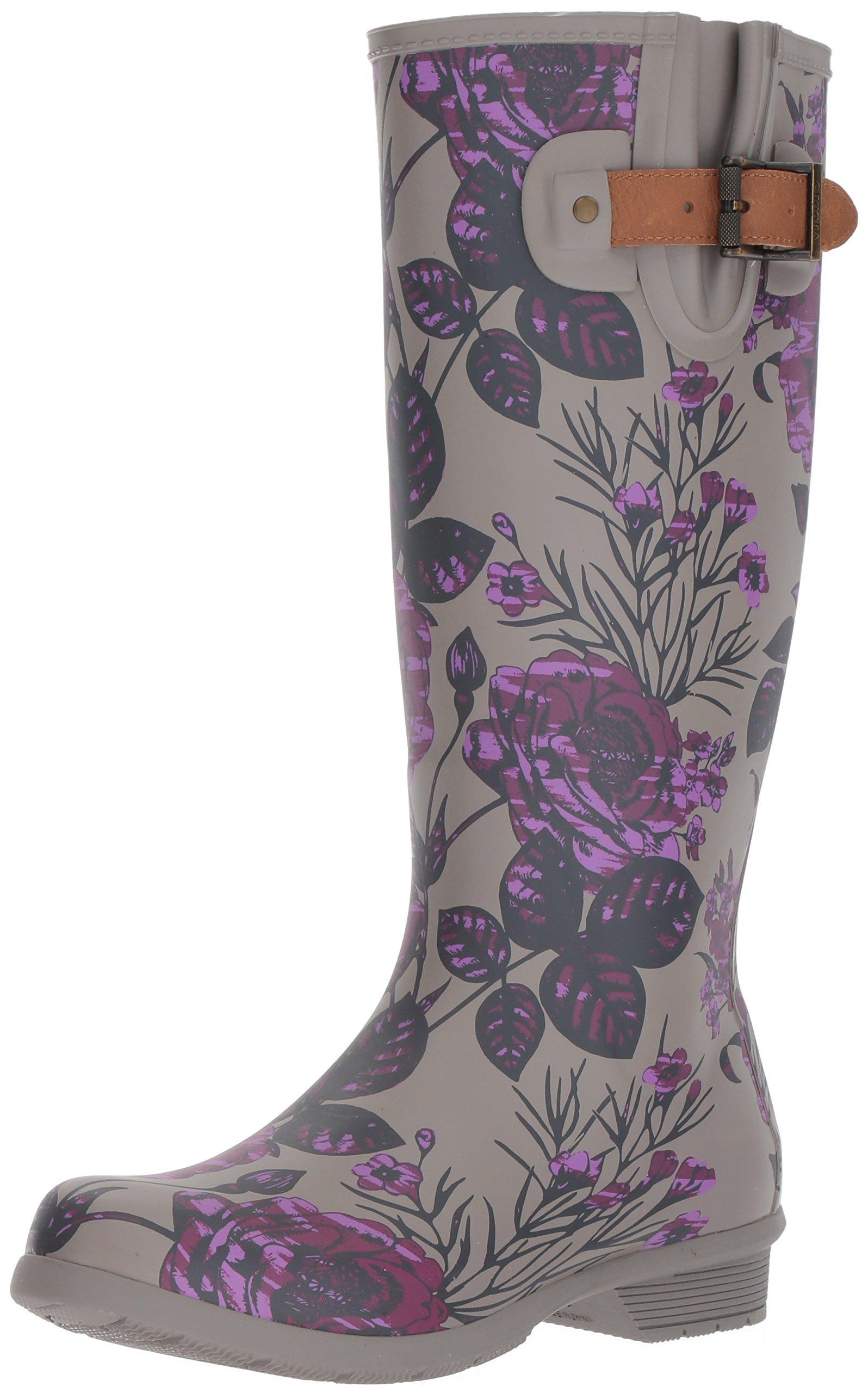 Chooka Women's Tall Memory Foam Rain Boot, Hattie, 6 M US