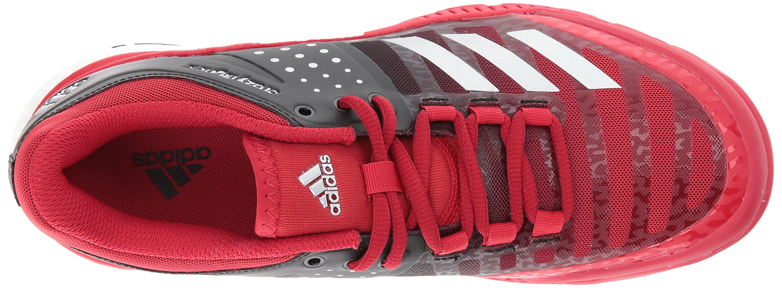 Adidas Women's Shoes Crazyflight X Volleyball Shoe Black/Metallic Silver/Power Red,7.5 by adidas Originals (Image #8)