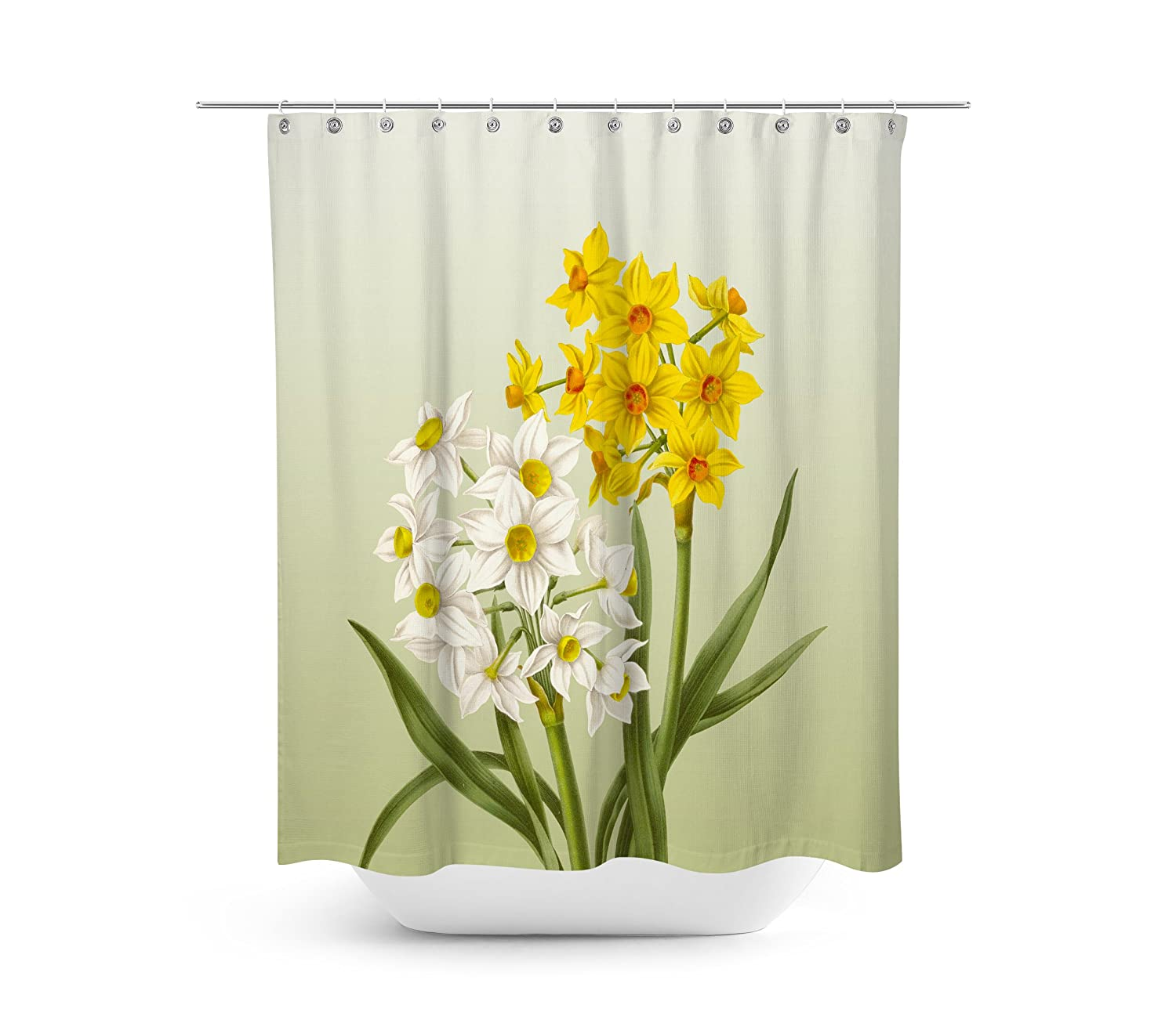 Livilan Tropical Plant Banana Leaf Shower Curtain Set 72