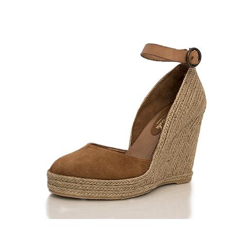 MTBALI - Sandalia Alpargata con cuña, Mujer - Modelo Altea - 39, Marrón: Amazon.es: Zapatos y complementos