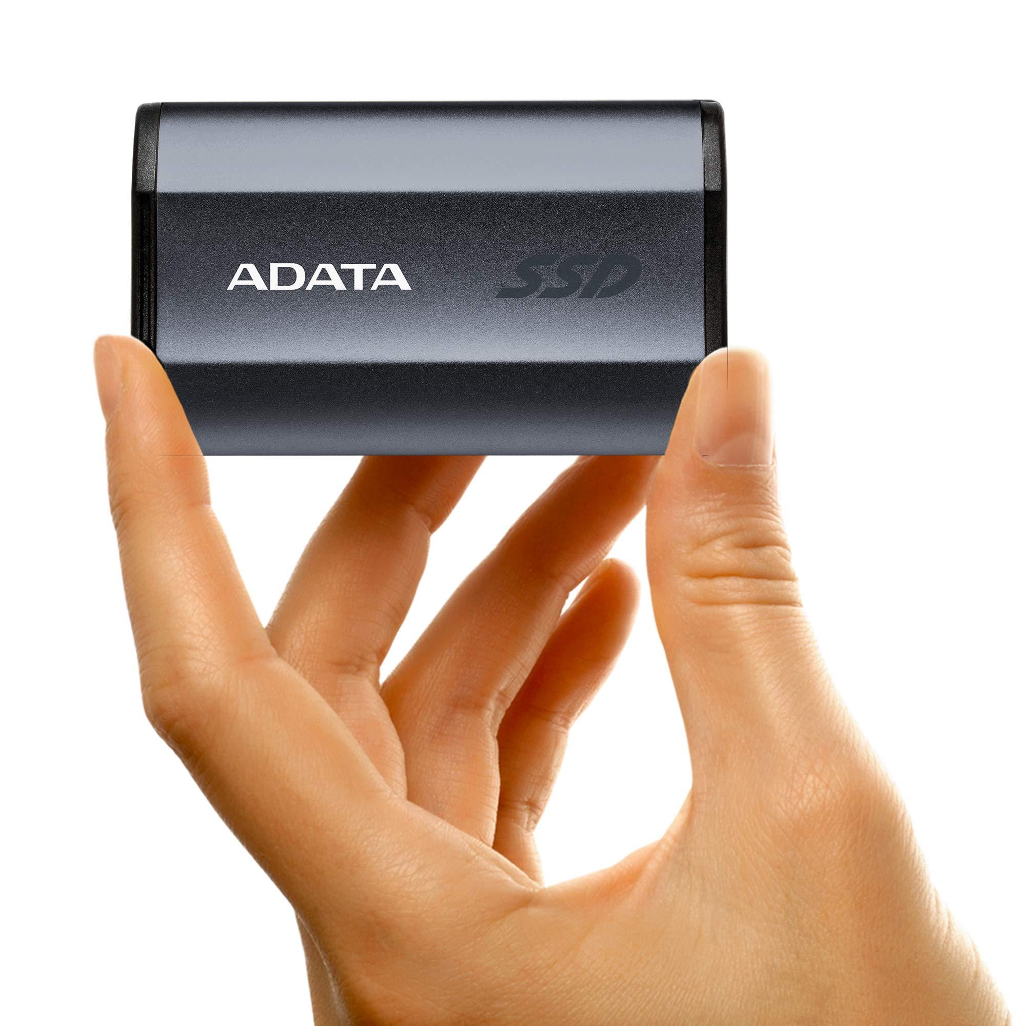 ADATA SE730H 1TB USB 3.1 Gen 2 Type-C Waterproof Shockproof Portable External Solid State Drive Grey (ASE730H-1TU31-CTI) by ADATA (Image #4)