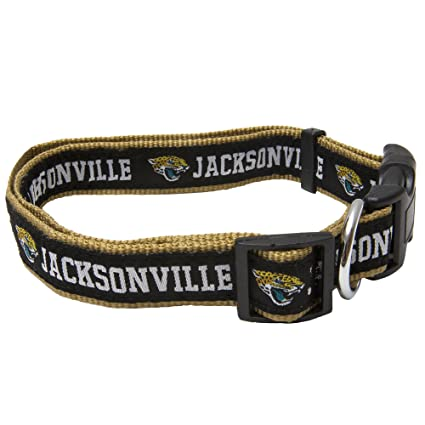db49aed95ad Amazon.com : Pets First NFL Jacksonville Jaguars Pet Collar, Large ...