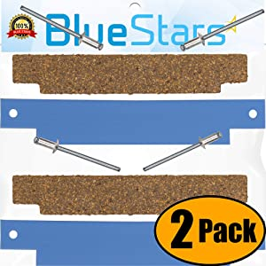 Ultra Durable 306508 Clothes Dryer Tumbler Front Glide Bearing Kit Replacement by Blue Stars - Exact Fit for Whirlpool Maytag Crosley Dryers - Replaces 306508VP AP4037304 PS1804752 - SET OF 2