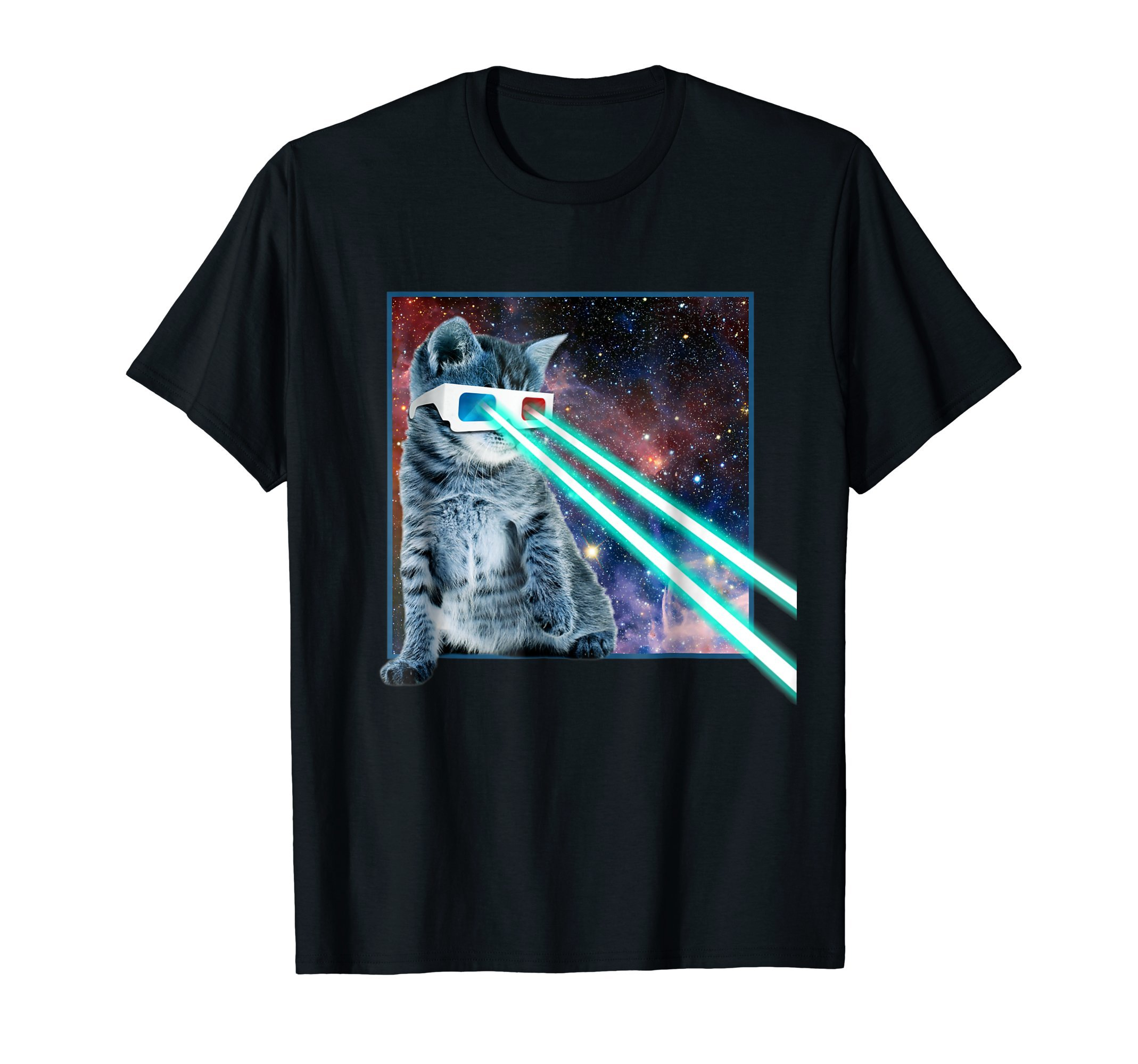 Captain Laser Cat | 3D Glasses | Space | Galaxy | Kitty Eye