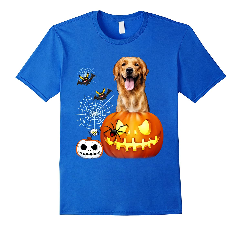 golden retriever halloween tshirt fl