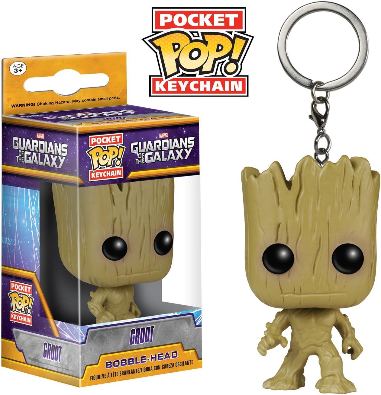 Hulkbuster Thanos Rocked Vinyl Figure Keyring Funko Pocket Pop Keychain Groot