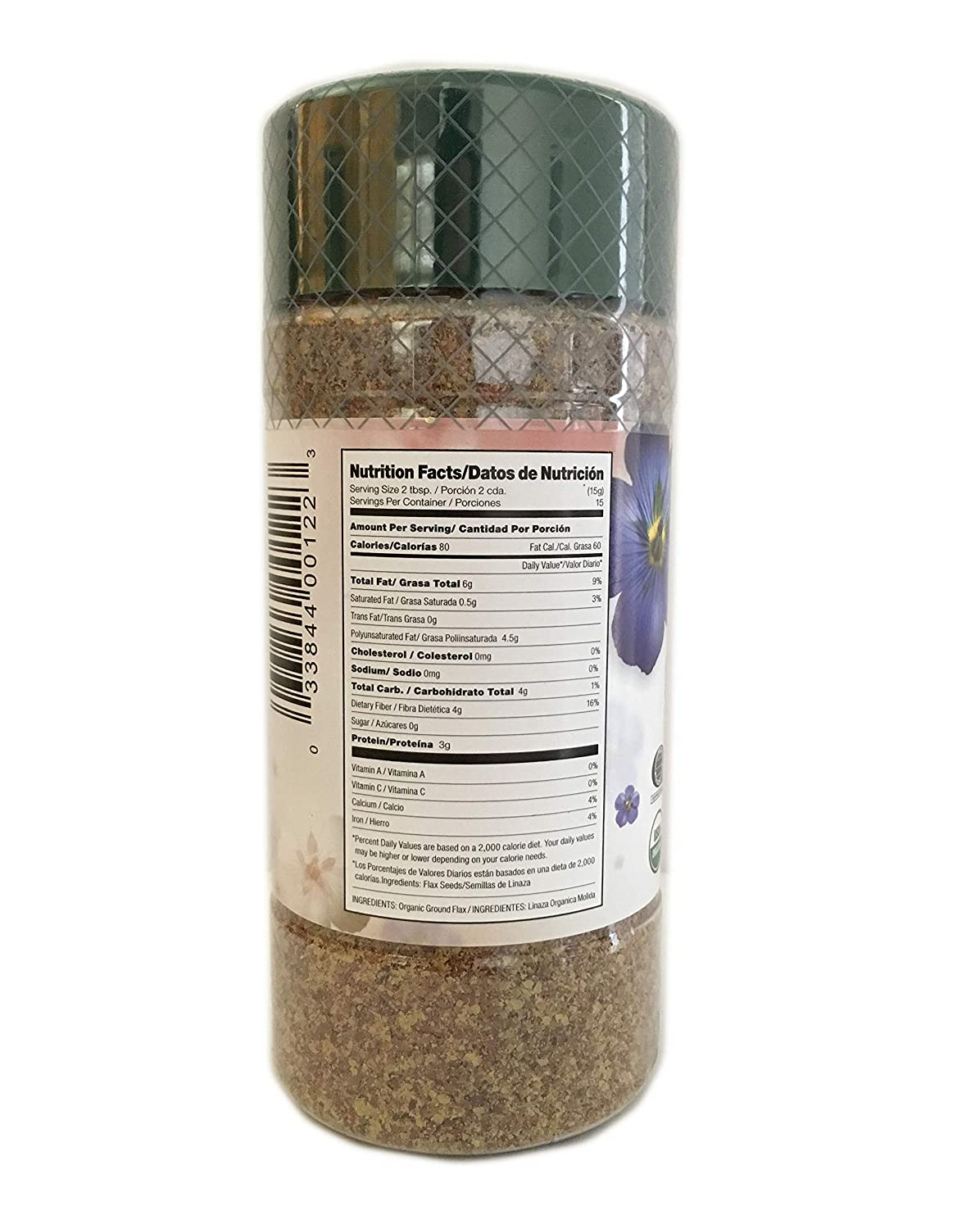 Amazon.com : 7.5 oz Organic Ground Flax Seed/Linaza Molida en Polvo Free Gluten Kosher : Grocery & Gourmet Food