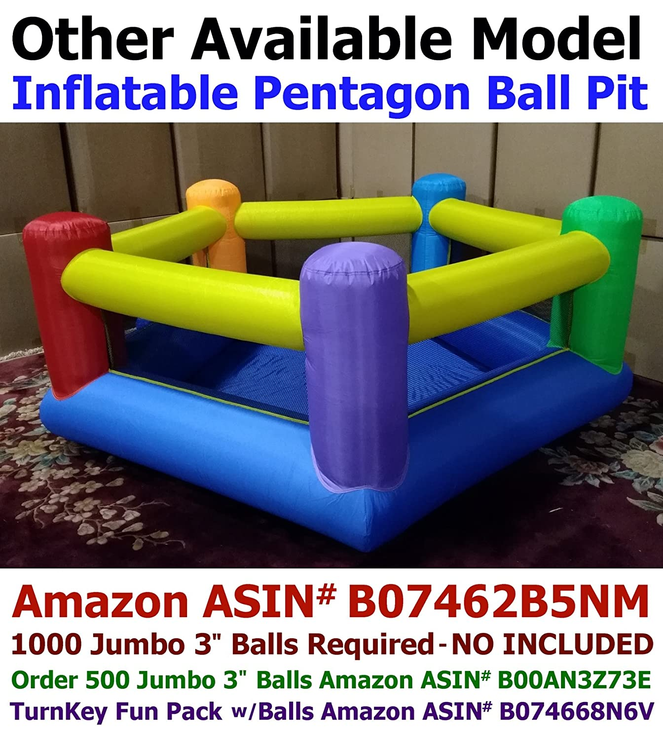 my bouncer little castle bounce ball pit popper with