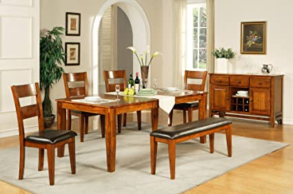 Amazon.com - Steve Silver Company Mango Dining Table with 18 ...