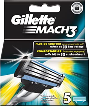 Gillette Mach3 - Recambios para cuchilla de afeitar, 5 unidades ...