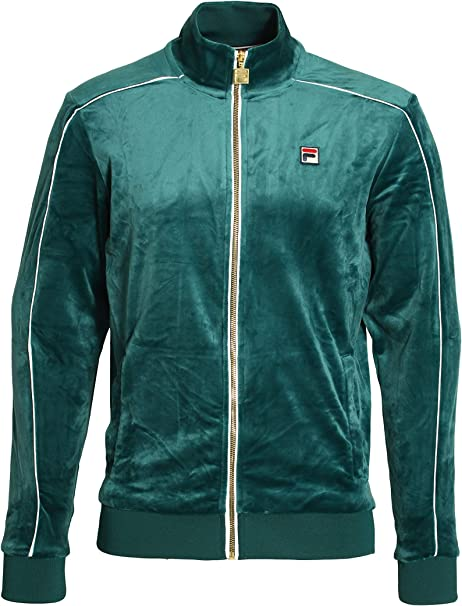 Fila Vintage Lineker Velour Track Jacket | Green XLarge