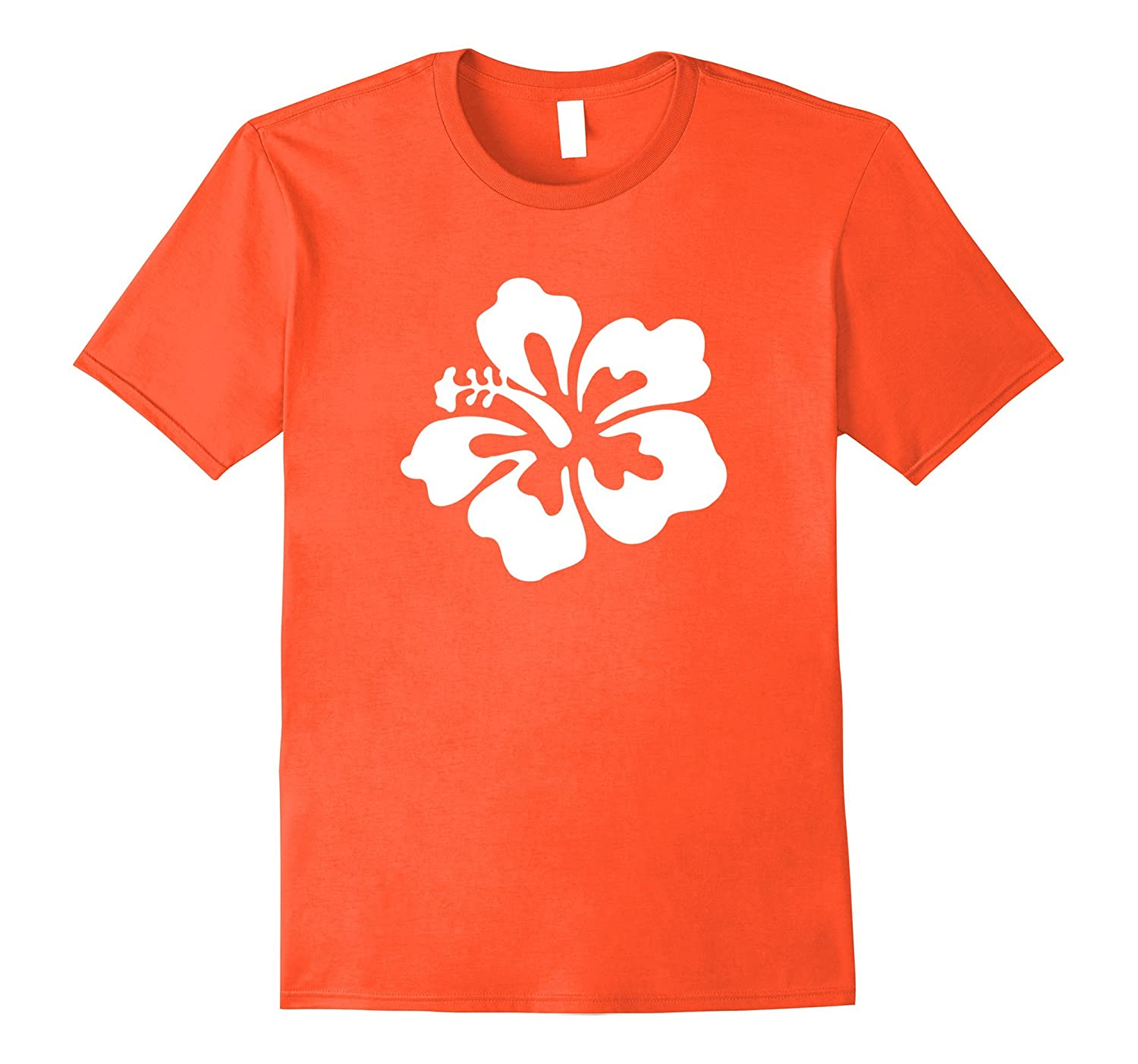 Large white Hawaiian Hibiscus flower Hawaii T Shirt-CD