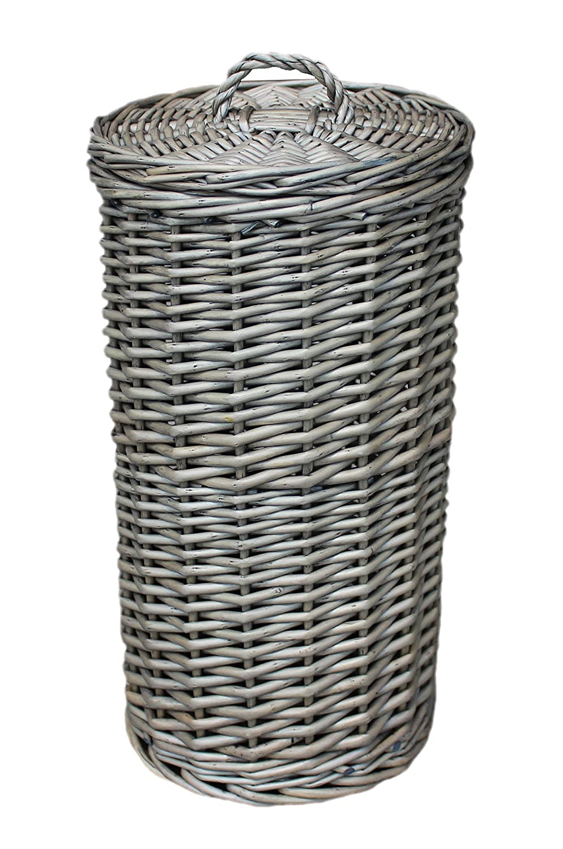 antique wash wicker toilet roll storage basket slim line wicker basket bathroom Choice Baskets