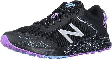 New Balance Damen Arishi V1 Fresh Foam, Schwarz/Violett/Neo-Violett, 42 EU