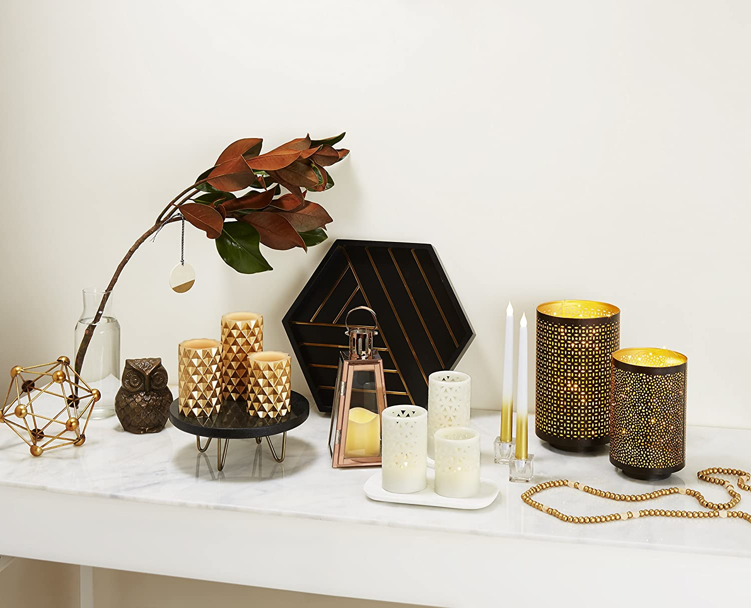 flameless candles | gold