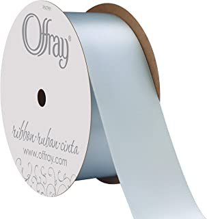 "product image for Berwick Offray 1.5"" Wide Double Face Satin Ribbon, Light Blue, 10 Yds"