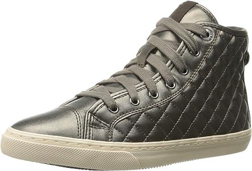 Donna Colore Oro Rosa Scarpe Geox New Club Sneakers Alte