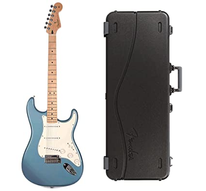 814d794df8 Amazon.com: Fender Player Stratocaster MN Tidepool Bundle w/Fender Molded Hardshell  Case: Musical Instruments