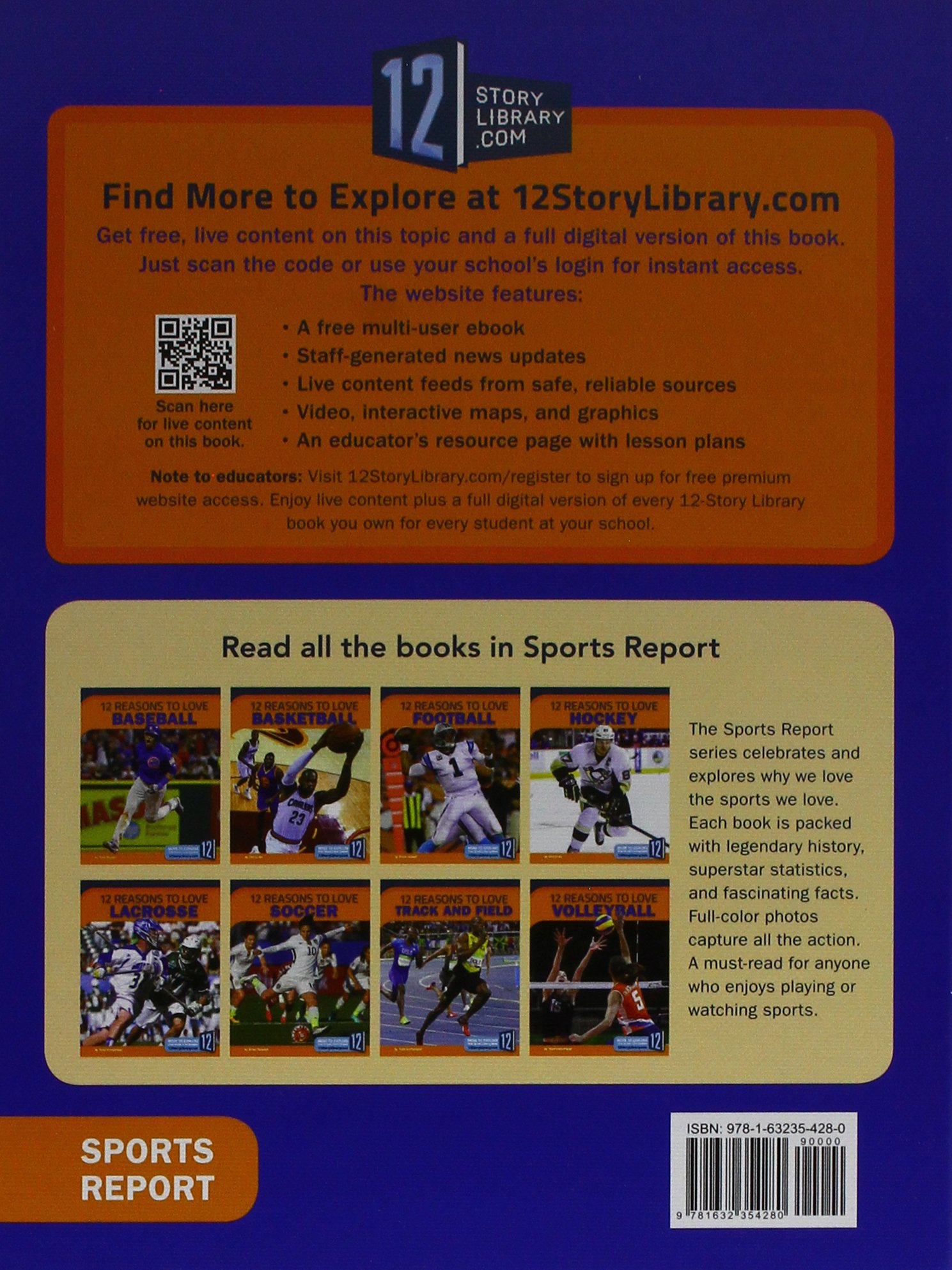 12 Reasons to Love Hockey (Sports Report) by 12-Story Library (Image #1)