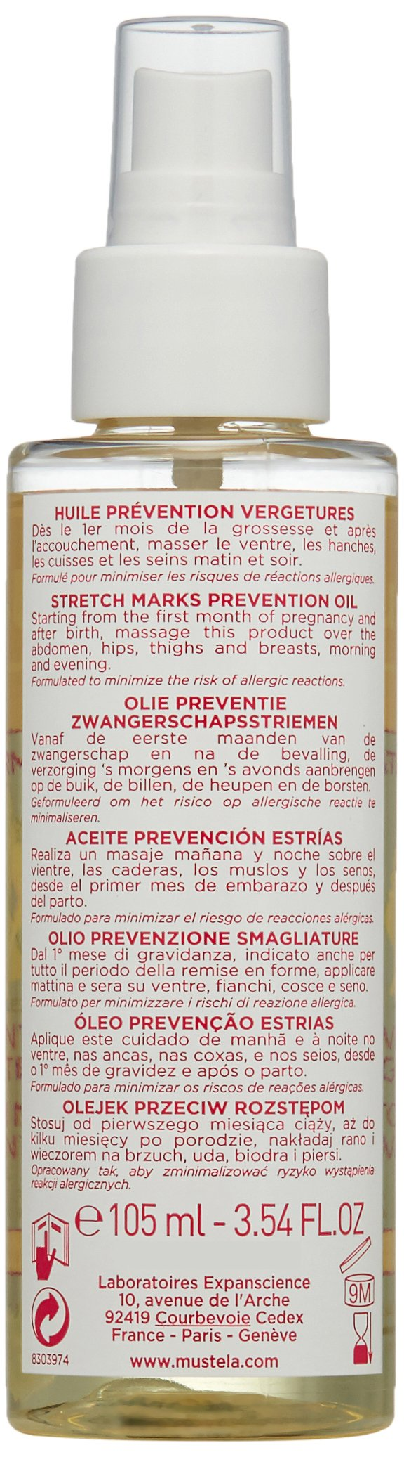 Mustela Stretch Marks Prevention Oil, 3.54 Fl Oz by Mustela (Image #4)