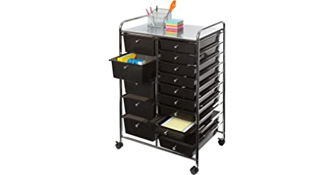 Seville Classics 15-Drawer Organizer Cart only $66.87