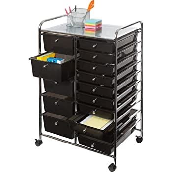 honey can do rolling storage cart and organizer with 12 plastic drawers home kitchen. Black Bedroom Furniture Sets. Home Design Ideas
