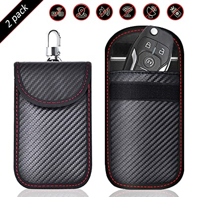 Todoxi Faraday Key Fob Protector (2 Pack) Faraday Bags Car Key Signal Blocking, Car Security Protection Pouch: Car Electronics