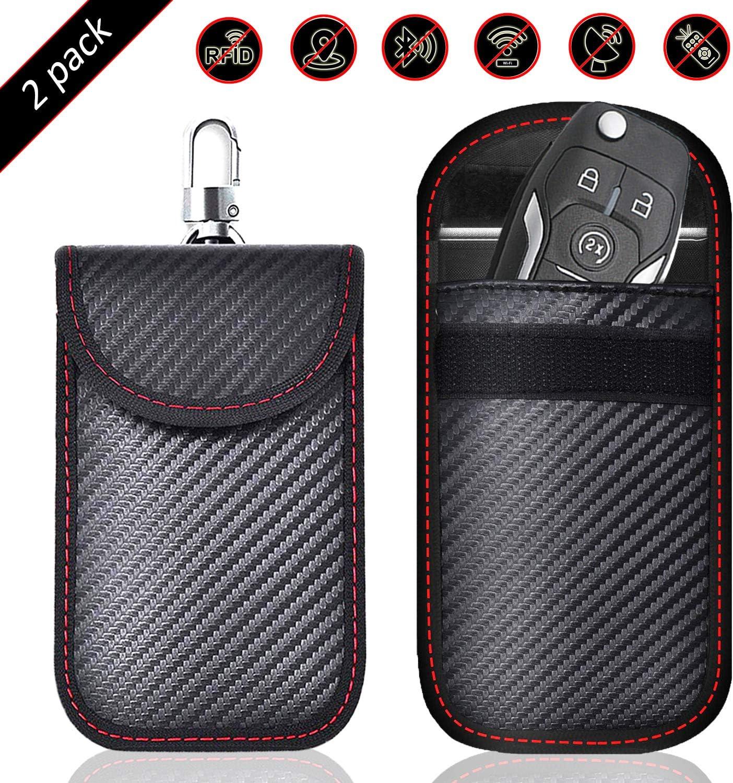 Todoxi Faraday Schl/üsselanh/ängerschutz Faraday Taschen Auto Schl/üssel Signal Blocking Auto Sicherheit Schutz Tasche 2 St/ück