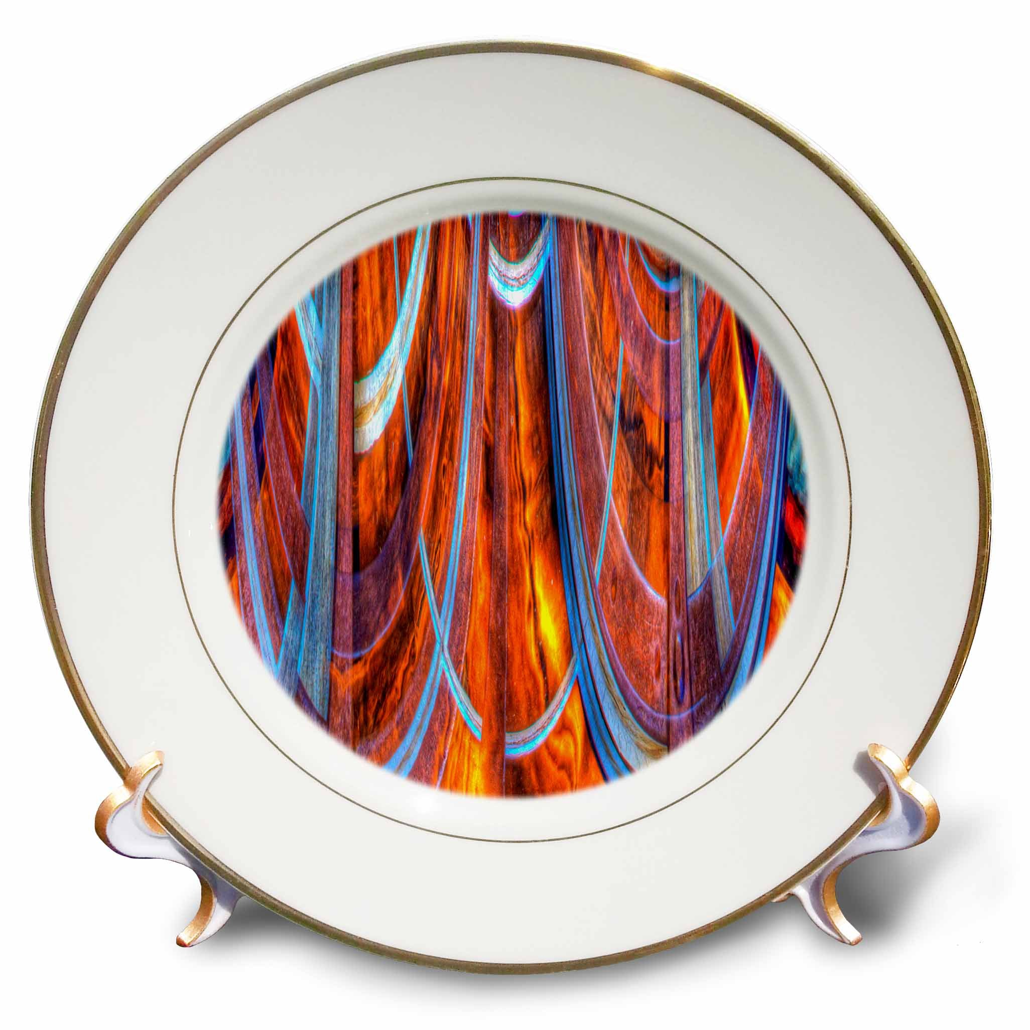 3dRose Danita Delimont - Abstracts - USA, California, Bodie State Park. Abstract of window. - 8 inch Porcelain Plate (cp_278533_1)