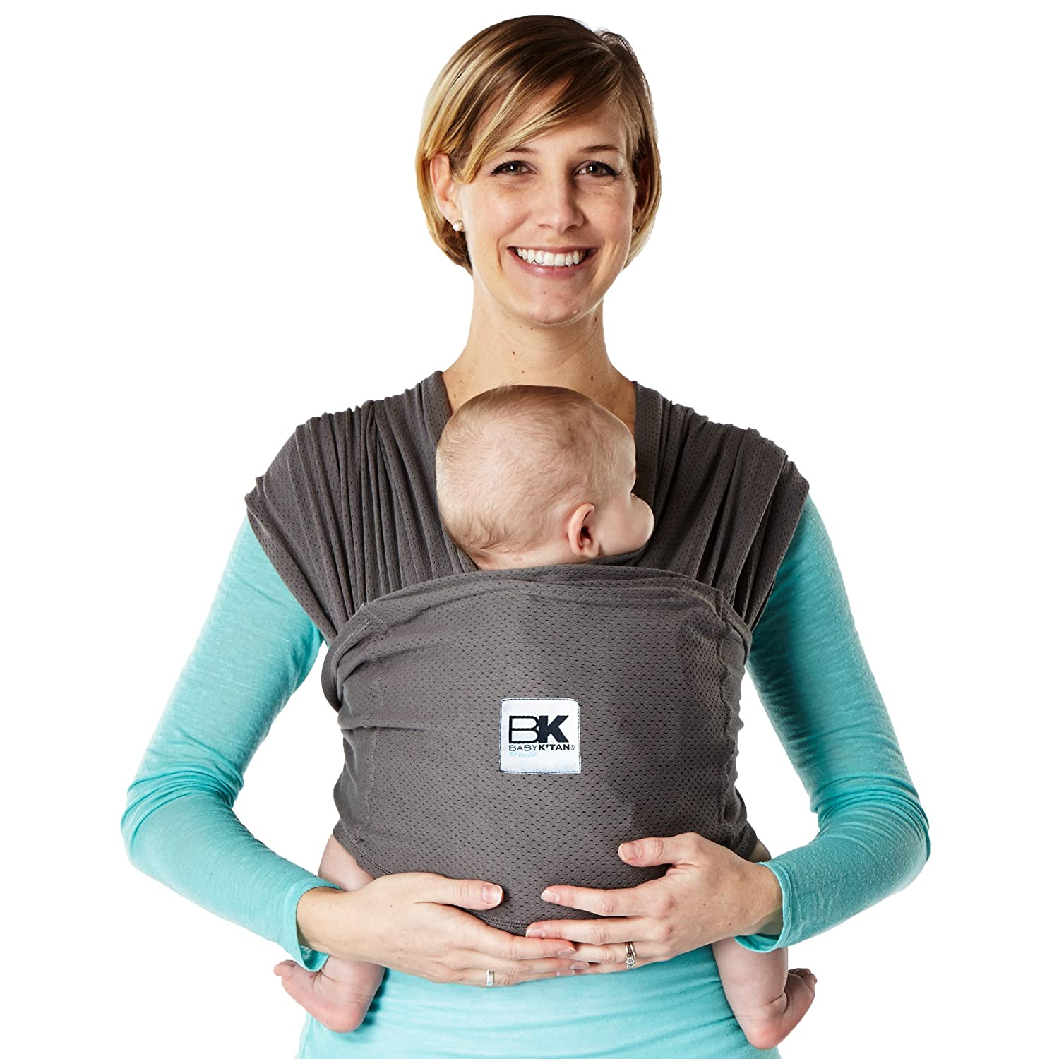 Baby K'tan BREEZE Baby Carrier, Charcoal, Small Baby K'tan BKBC-BREEZE-CH-S