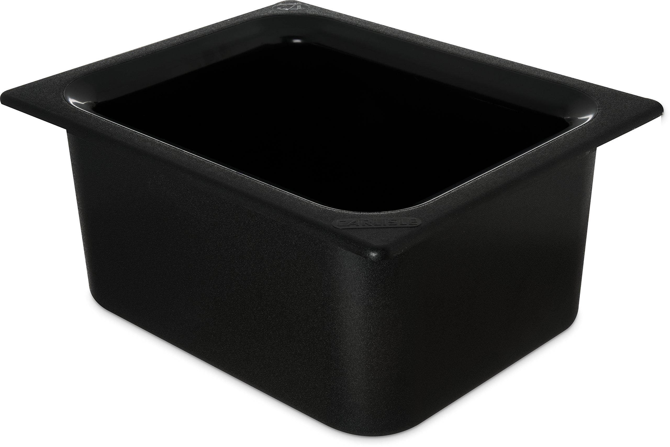 Carlisle CM110103 Coldmaster Food Pan 1/2-Size, Plastic, Black