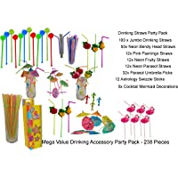 238x Cocktail Party set, Decoration Picks, Drinking Straws, Cocktail Accessories, MEGA VALUE
