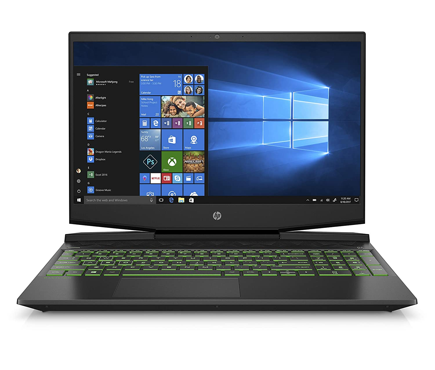 HP Pavilion Gaming 15-Inch Laptop, Intel Core i5-9300H, NVIDIA GeForce GTX 1650, 12GB RAM, 512GB SSD, Windows 10 (15-dk0042nr, Black)