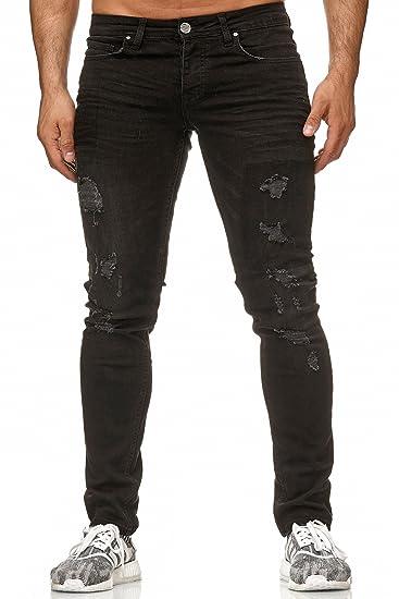 Reslad Jeans Herren Slim Fit Destroyed Herren-Hose Jeanshose Männer Jeans  Hosen Stretch Denim RS-2083  Amazon.de  Bekleidung 9a4c7b6726